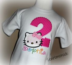 Kitty Birthday Shirt  Kitty Shirt by soohomemade on Etsy, $20.00