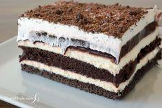 easy chocolate dessert lasagna recipe with pudding & cream cheese   CherylStyle.com