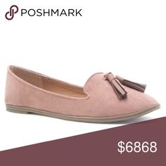 LAST ONE❣️Taupe/Blush Suede Flat with Tassels Taupe/Blush Suede Flat with Tassels. This beautiful faux suede detailed flat will go with every spring outfit! Almond toe that freshens the look of a shapely loafer, perfect for all day comfort. No Trades. Price is Firm Unless Bundled. GlamVault Shoes Flats & Loafers