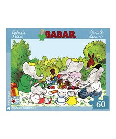 Love this Babar's Picnic Jigsaw Puzzle on #zulily! #zulilyfinds