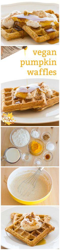 Vegan Pumpkin Waffles - The Viet Vegan