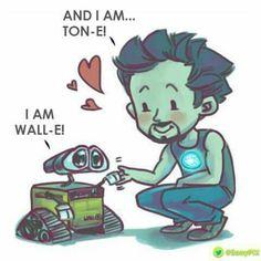 Tony Stark meets Wall-E, so cute! ❤