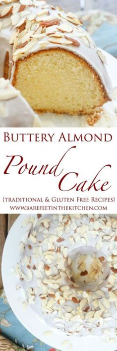 Buttery Almond Pound Cake is a rich, buttery cake with a golden brown crust. The cake is not overly sweet and it's loaded with almond flavor. Dense enough to not fall apart when you slice it very thin,...
