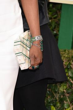 Laverne Cox Bright Nail Polish - Laverne Cox matched her emerald nails to her…