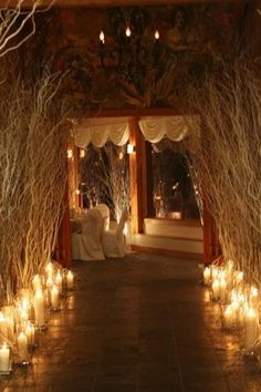 Can't have candles but can do the jack o lantern idea with electronic tea lights. For the entrance to the mansion