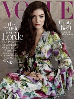 New Zealand singer, Lorde, lands her first Vogue cover with the July 2015 issue of Vogue Australia. Wearing a bohemian inspired dress designed by Gucci with…