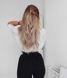 45  Easy and Cute Long Hair Styles You Should Try Now Easy Hairstyles For Long Hair, Pretty Hairstyles, Prom Hairstyles, Simple Hairstyles For School, Hair Ideas For School, Updos Hairstyle, Hairstyle Ideas, Hair Styles For Long Hair For School, Spring Hairstyles