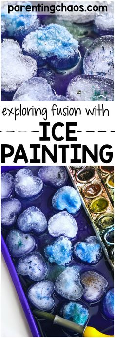This simple activity of Salt Painting with Salt was an excellent activity for exploring fusion and why ice melts.