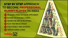 Step by Step Approach to Become Professional Rummy Player in India