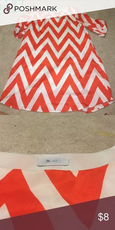 Chevron Dress Orange Chevron Dress Everly Dresses