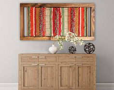 Made in Chile with natural wool and driftwood from Lago Puyehue. It takes me 3 weeks to do it and 3 more weeks the delivery. Weaving Wall Hanging, Weaving Art, Tapestry Weaving, Loom Weaving, Hanging Wall Art, Wall Hangings, Deco Boheme Chic, Peg Loom, Fabric Yarn