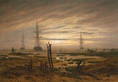 Bild: Caspar David Friedrich - Schiffe auf der Reede