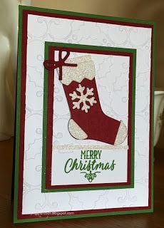 Stampin Up Demonstrator UK Pegcraftalot Peg Coombes: Christmas Stocking and Hang your Stocking Stampin' Up!