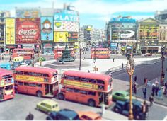 Amazing tilt/shift period photo of Piccadilly Circus, London  markbeaumont.com SE London Estate Agents