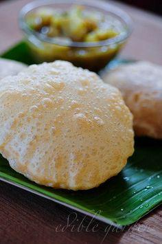 Puri Recipe - How to Make Poori, a Popular South Indian Breakfast Dish/