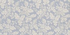 Oak Leaf (91/1001) - Cole & Son Wallpapers - A pretty and simple oak leaf and acorn design shown here in white on a pale cornflower blue background with a sponged effect. Please ask for sample for true colour match.