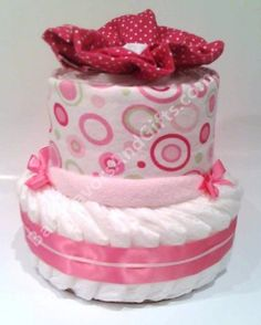 Pink Bubbles Diaper Cake, baby gifts by BabyFavorsAndGifts, via Flickr