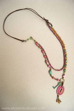 Unlock Possibilities Handmade Art Jewelry Necklace by Erin Fickert-Rowland