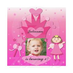 This princess theme birthday invitation is easy to customize and you can add your child's photo!