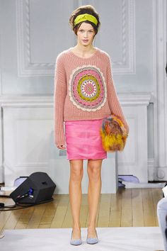 Moschino crochet circle sweater