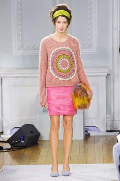 Moschino crochet circle sweater