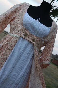 Regency Open Robe Jane Austen Era Jacket as by SewManyTreasures, $110.00