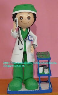 FOFUCHAS. Manualidades y Creaciones Maite: fofuchas enfermeras y medicos