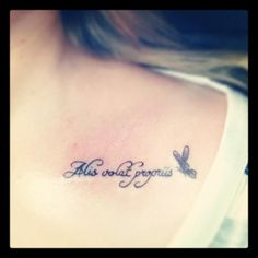 "My tattoo - Alis volat propriis ""she flies with her own wings"""