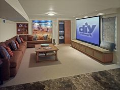 Family Friendly Home Theaters From DIYNetwork Basement Movie RoomPlayroom