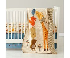 Coloful Animals Crib Bedding