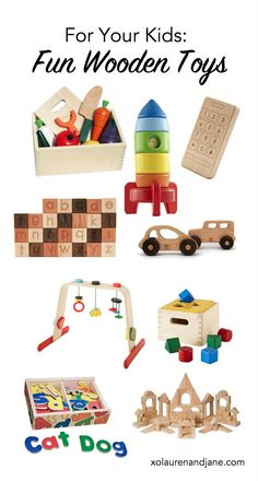 For your kids: Fun Wooden Toys |XOLaurenAndJane.com
