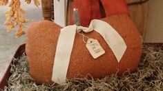 primitive fall pumpkin orange cream pumpkin by Nanasgrungyprims