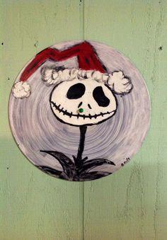 Santa Jack Skellington Hand Painted Vinyl by MaidenLongIsland