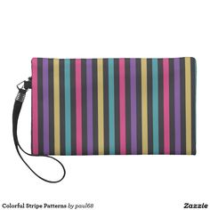 Colorful Stripe Patterns Wristlets