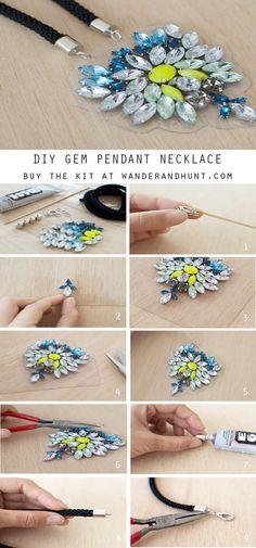 DIY Gem Pendant Necklace – Wander & Hunt