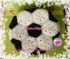 Soccer ball Crochet Hat https://www.etsy.com/your/shops/MyMagicCrochetUS