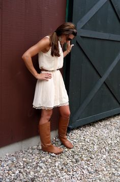 Girly dress + Boots