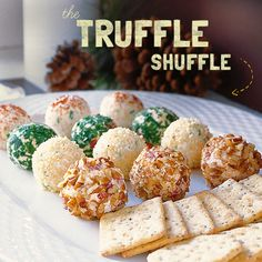 Chocolate is so last season. Fix these lovelies for your holiday gathering and introduce your guests to the new truffle in town ... #recipe #xmas #christmas #appetizer #party #cheese