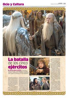 Diseño Editorial / Diagrmación / La República / Lima / Perú / Espectáculos / Ocio y Cultura / Diseño / El Hobbit / Cine / Desing / Entretenimiento / La Batalla de los Cinco Ejércitos / Movie / Bilbo / Gandalf / El Señor de los Anillos