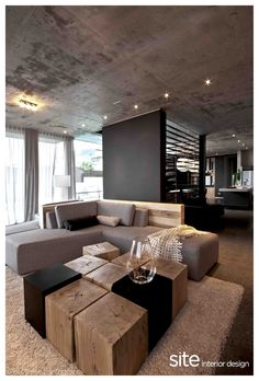 COFFEE TABLE CHUNKS : FURNITURE : Site Interior Design - Design and decor firm, Cape Town, South Africa