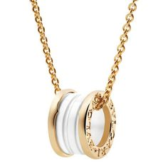 Bvlgari gold and white necklace <3
