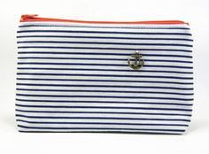 Grande pochette marinière (ancre) - Collection In the Navy - www.huka-shop.com