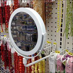 Perpendicular Porthole Mirror Mounts to Gondola Upright Porthole Mirror, Retail Merchandising, Furniture, Mirrors, Arm, Home Decor, Store, Decoration Home, Retail
