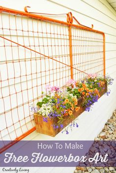 Turn an Old Gate into Outdoor Flower Box Art