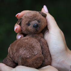 teddy bear with cute fat tummy Teddy Bear Toys, Cute Teddy Bears, Fabric Animals, Felt Animals, Handmade Stuffed Animals, Love Bear, Minis, Soft Dolls, Handmade Toys