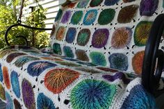 For the Sitting Room sofa: A small throw to cover the head rest area of the sofa - I think this pattern may work well in the yarn recovered from the disastrous King Cole Shawl I frogged. Need to swatch it! Crochet Unicorn Pattern Free, Crochet Rug Patterns, Crochet Headband Pattern, Crochet Yarn, Free Crochet, Crochet Blanket Border, Crochet Hat For Beginners, Knit Rug, Crochet Flower Tutorial