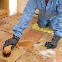 How to restore terracotta floor tiles
