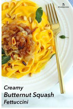 Butternut Squash Fettuccini (vegan friendly)
