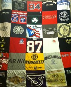 T-Shirt Blanket Story Series. A real story from a Project Repat t-shirt quilt customer
