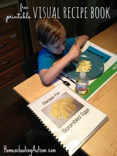free printable visual recipe book #autism #lifeskills